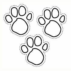 236x236 Paw Print Coloring Page Bear