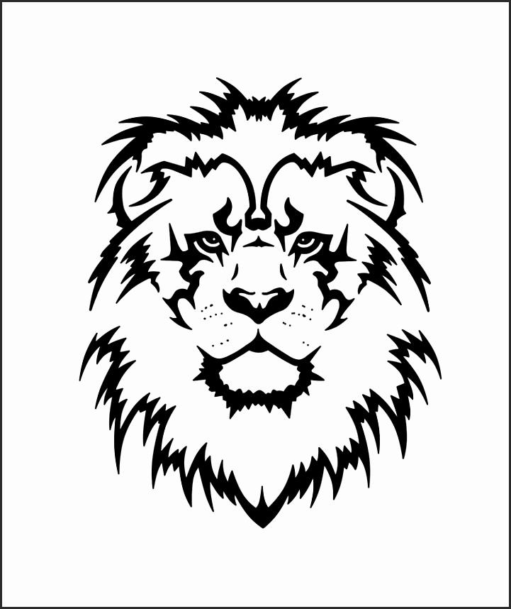 Leopard Face Paint Stencil