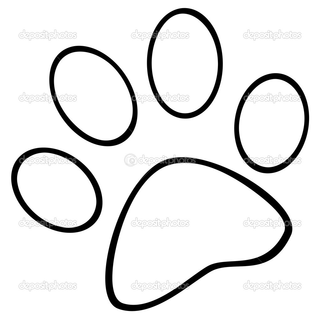 1022x1023 Bear Paw Print Coloring Page Grizzly Template