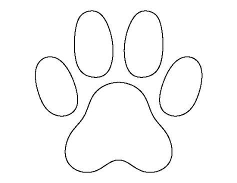 474x366 Cat Paw Print Pattern. Use The Printable Outline For Crafts