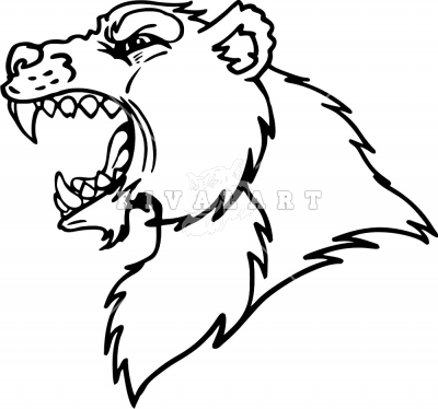 400x374 Growling Bear Clipart