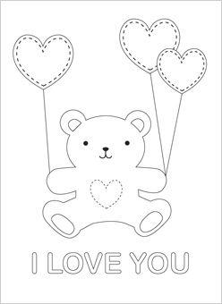 248x340 Drawn Bear I Love You