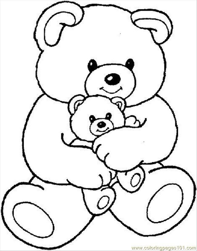 650x828 Endorsed Outline Of A Teddy Bear Drawn Heart Pencil And In Color
