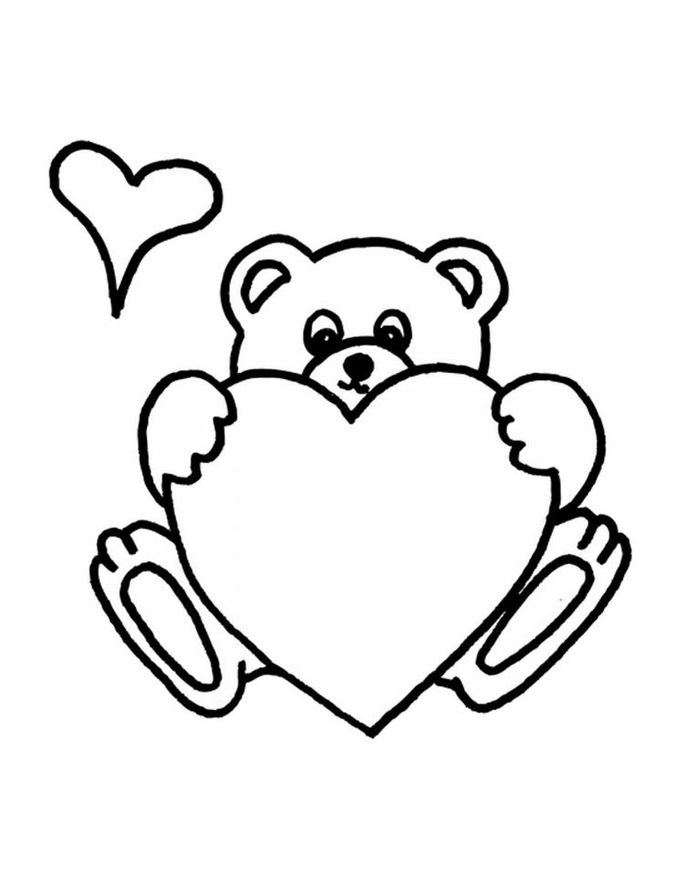 741x960 Get This Teddy Bear With Heart Coloring Pages Y1674 !