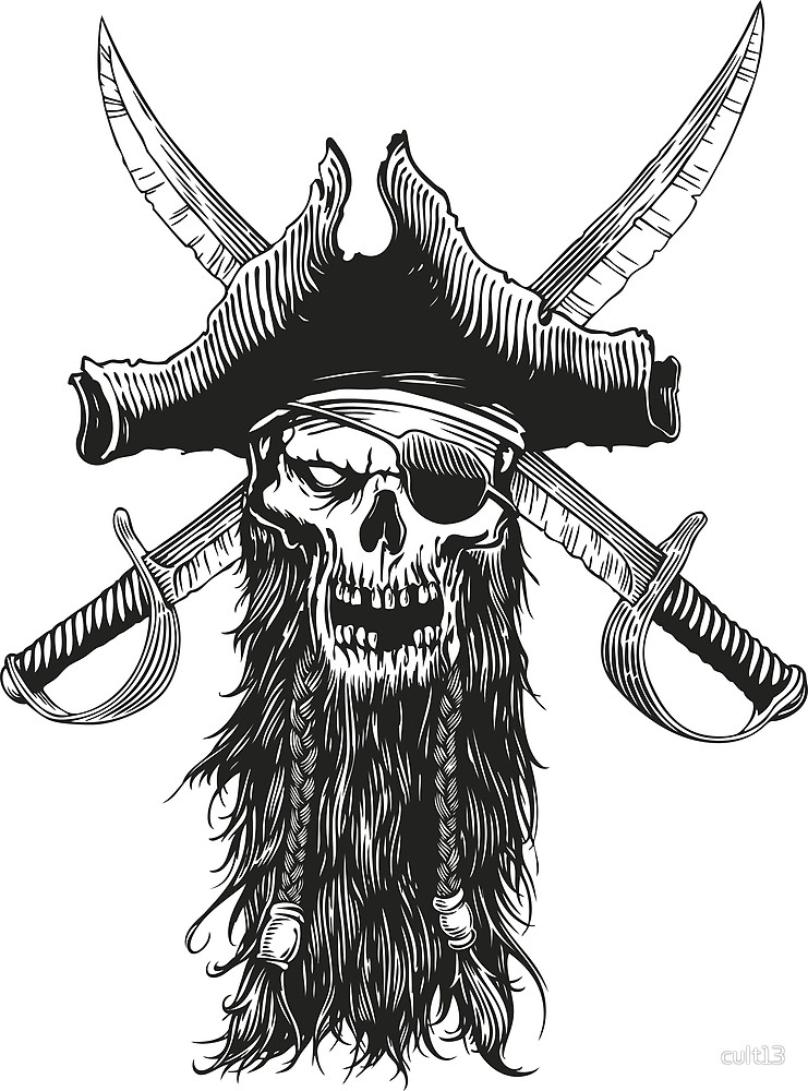 741x1000 Pirate Beard By Cult13 Redbubble