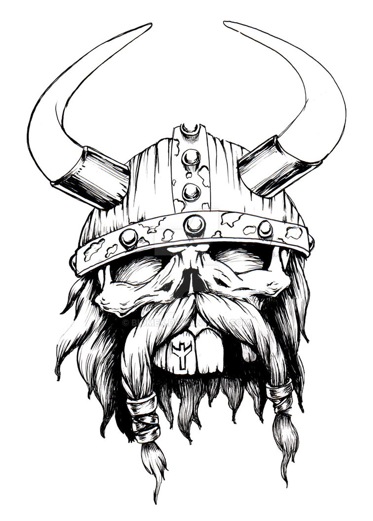 756x1057 Viking Skull By Biomek
