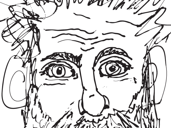 Bearded Man Drawing