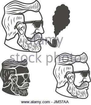 300x346 Old Man With Beard Sketch On Blackboard Drawing Art Stock Photo