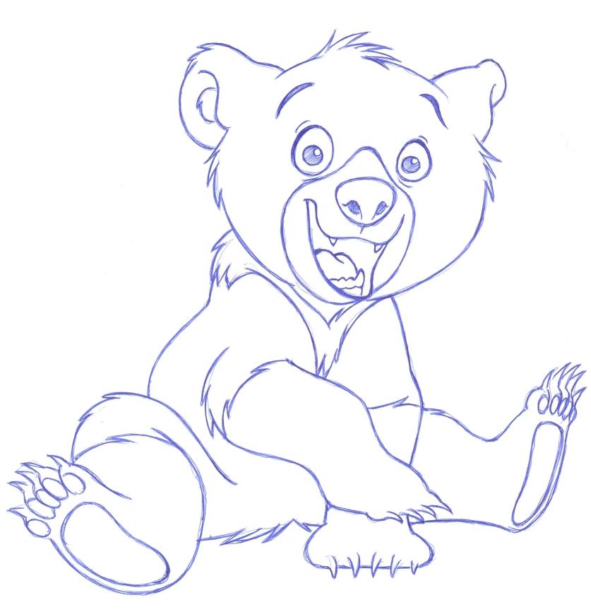 837x866 Drawn Bear Brother Koda