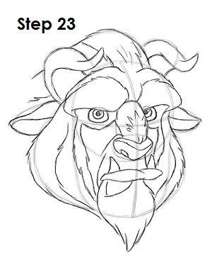 300x388 Draw Beauty's Beast 23 How To Beast, Drawings
