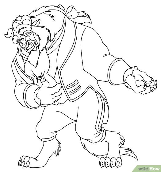 525x560 How To Draw The Beast From Beauty And The Beast 9 Steps