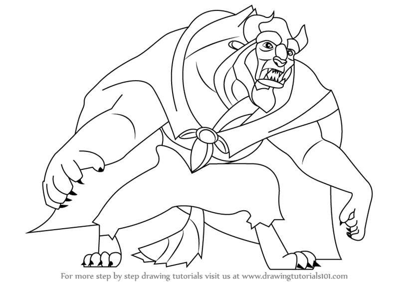 800x566 Learn How To Draw Beast From Beauty And Beast (Beauty And