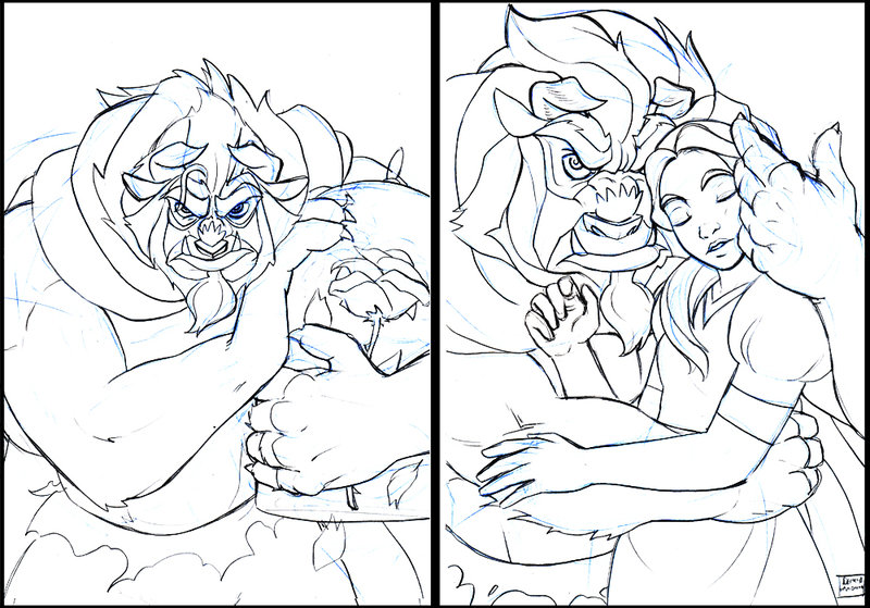 800x559 Beauty And The Beast Beast Drawing