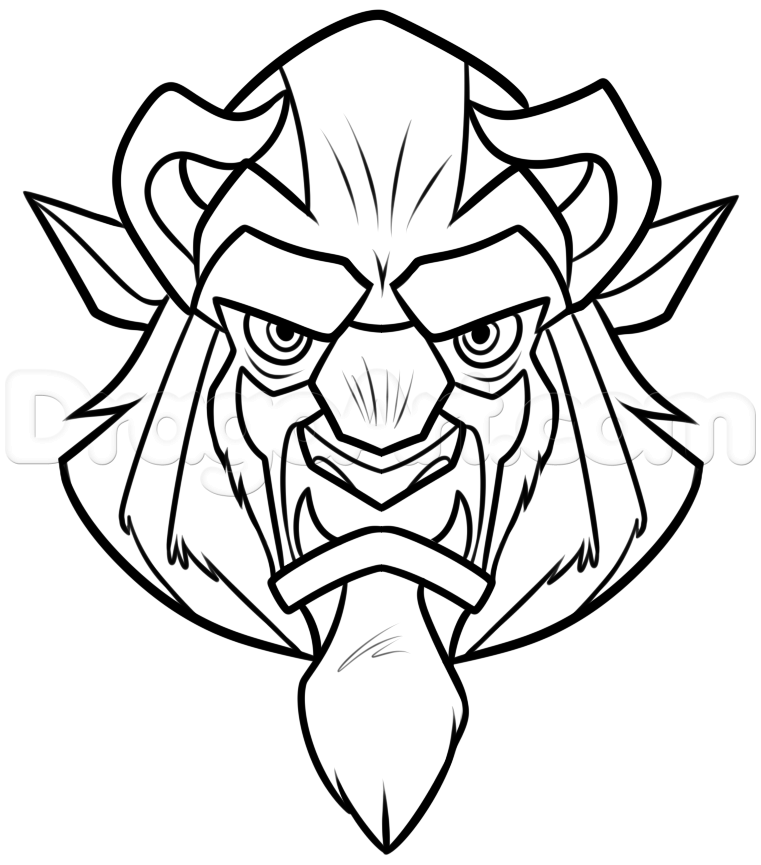 761x865 How To Draw Beast Easy Step 7 Disney Beast, Paper