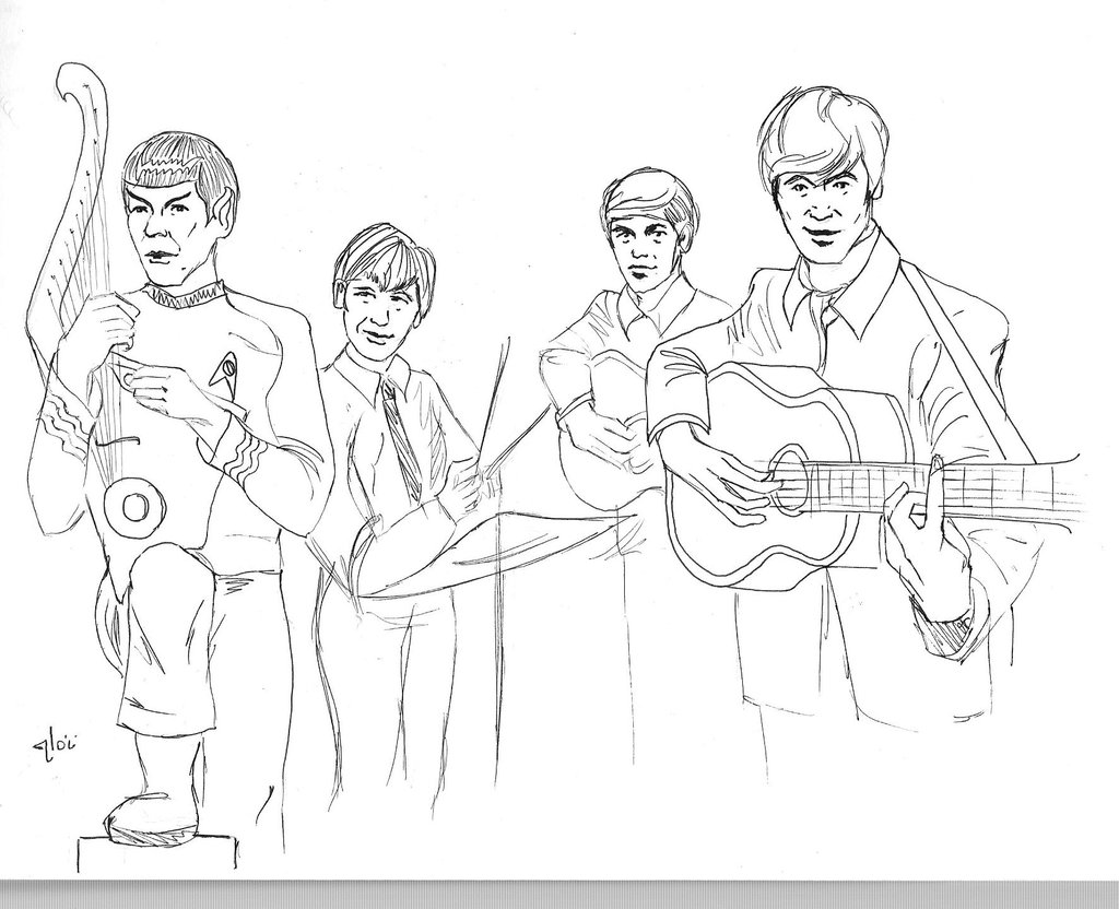 1024x832 Jamming With The Beatles [Spock] By Aloiinthesky