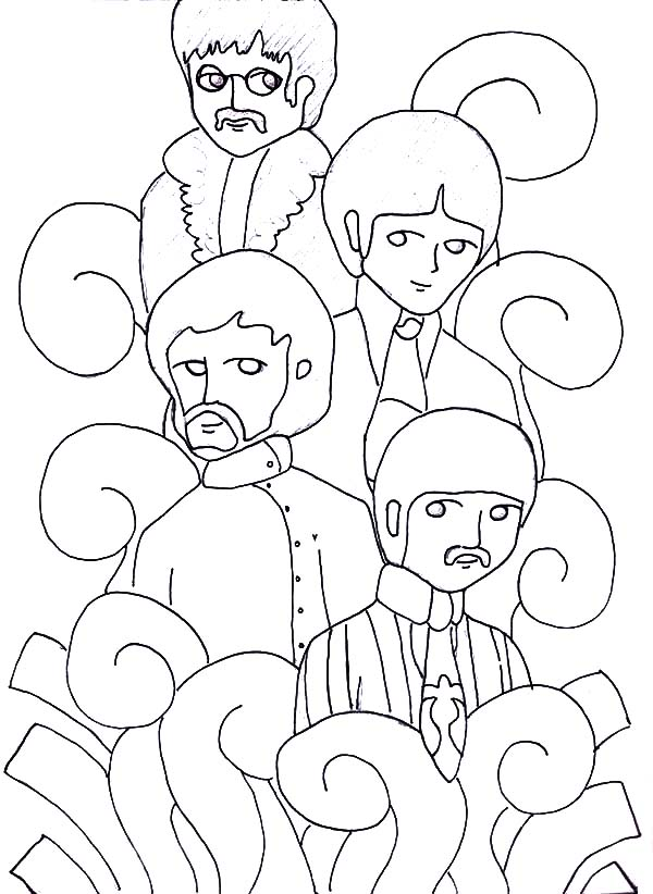 600x822 The Beatles Manga Picture Coloring Pages Batch Coloring