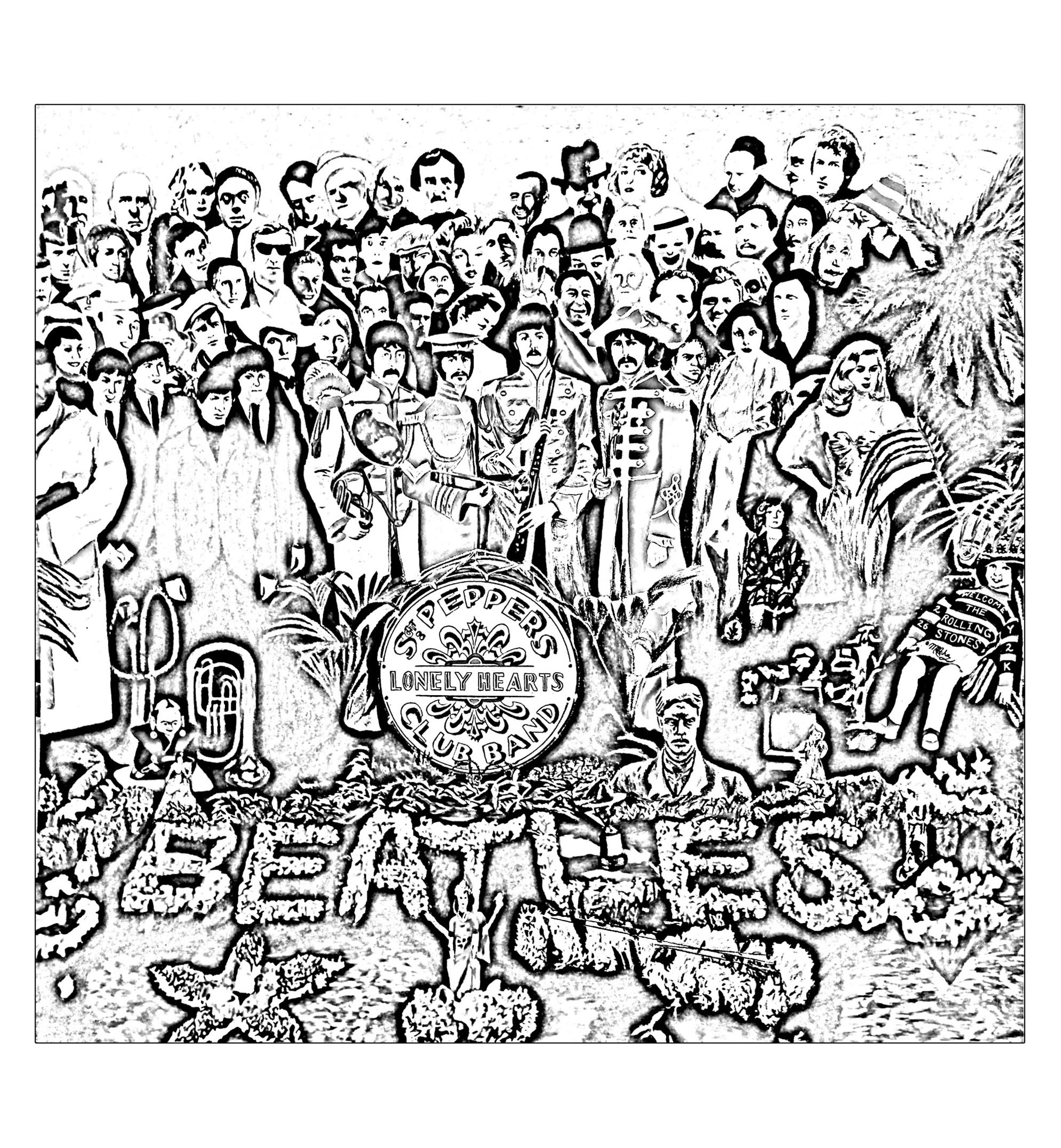 1986x2150 The Beatles Sgt Peppers Lonely Hearts Club Band Psychedelic