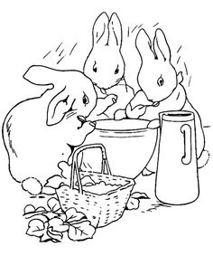 236x283 Simple Line Drawing Peter Rabbit