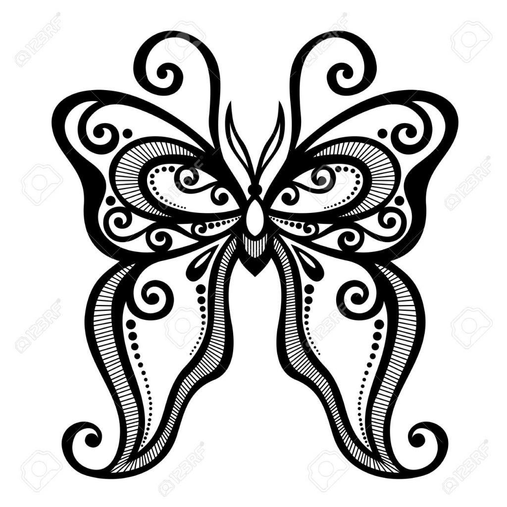 1024x1024 Beautiful Butterfly Drawing Image Beautiful Butterfly Drawing
