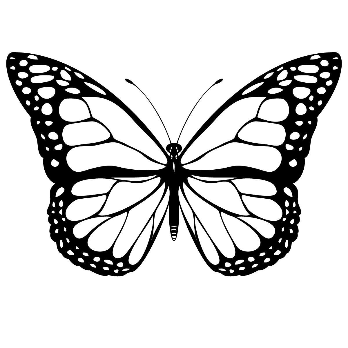 1200x1200 Beautiful Butterfly And Flower In The Garden Coloring Sheet