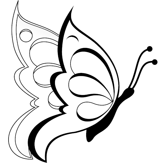 640x626 Colour Drawing Free Wallpaper Beautiful Butterfly Coloring