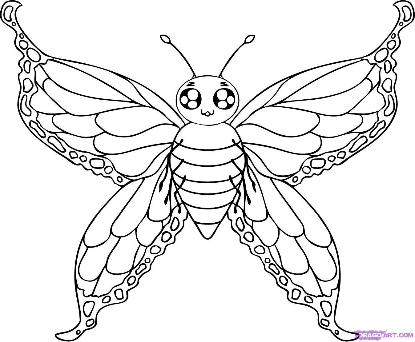 1348x1112 How To Draw A Beautiful Butterfly Step By Step