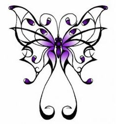 236x253 These Are Beautiful Butterfly Tattoo Designs, Drawings And Posters