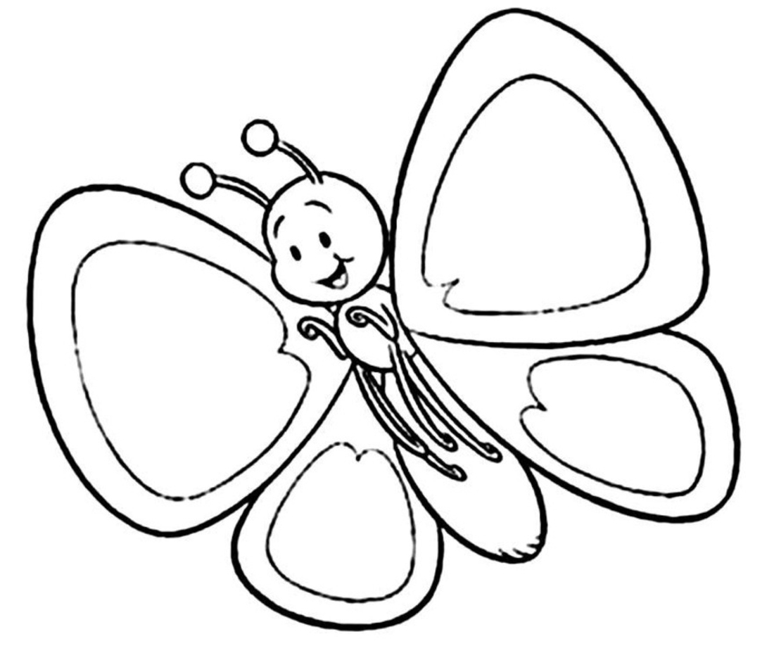 1100x955 Beautiful Butterfly Coloring Page In On