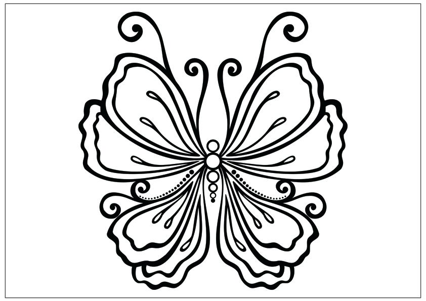 842x595 Beautiful Butterfly Coloring Pages Monarch Butterfly Coloring Page