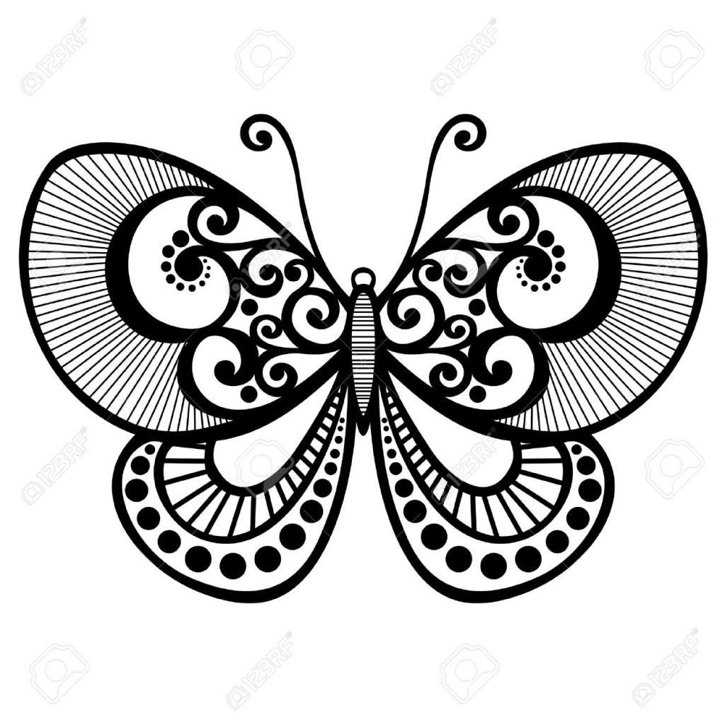 1024x1024 Beautiful Butterfly Drawing