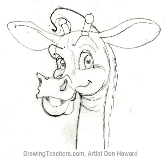 550x531 Cartoon Giraffe