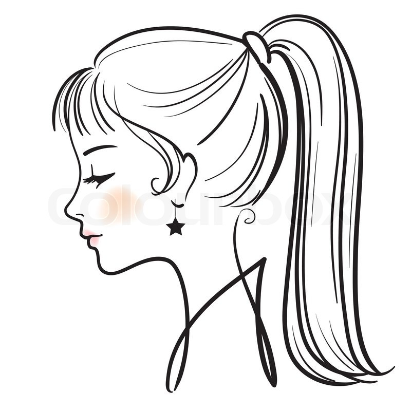 800x800 Cartoon Girl Face Side View T Faceheadhair Reference