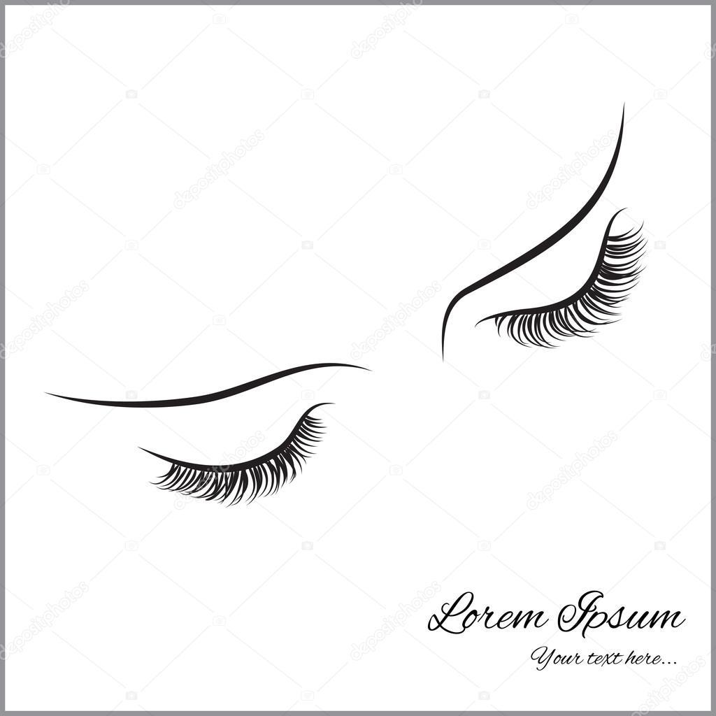 1024x1024 Closed Eyes With Long Eyelashes Stock Vector Oksana6299956