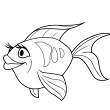 220x220 Beautiful Colored Fish Coloring Pages