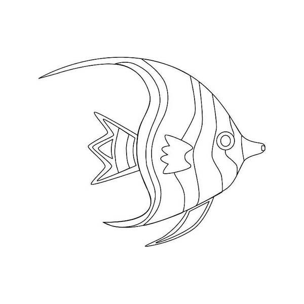 600x600 Free Beautiful Moon Fish Sea Animals Coloring Page