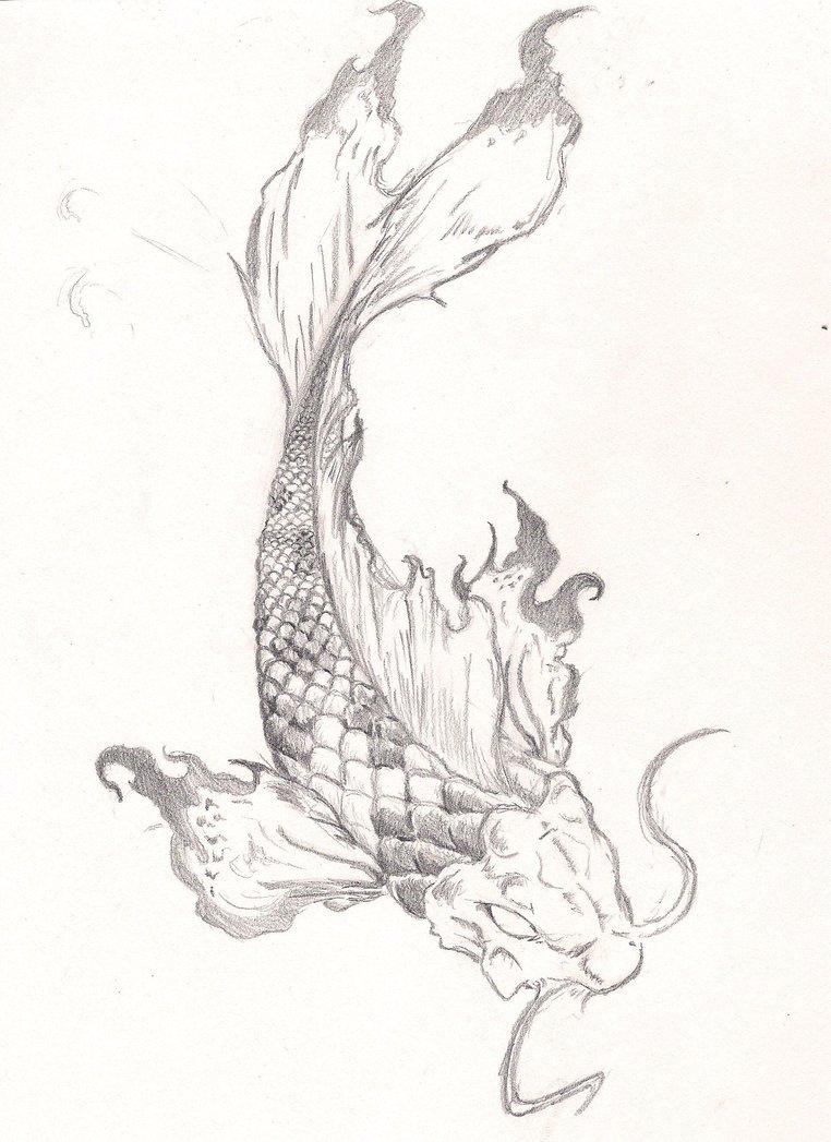 762x1047 Most Beautiful Koi Fish Tattoo Drawing Boys Amp Girls Picsmine