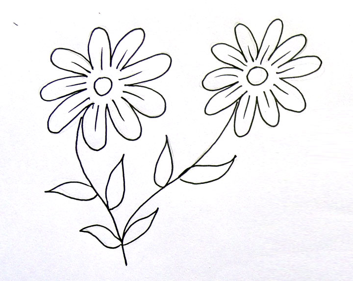 720x573 Flowers Drawings For Kids