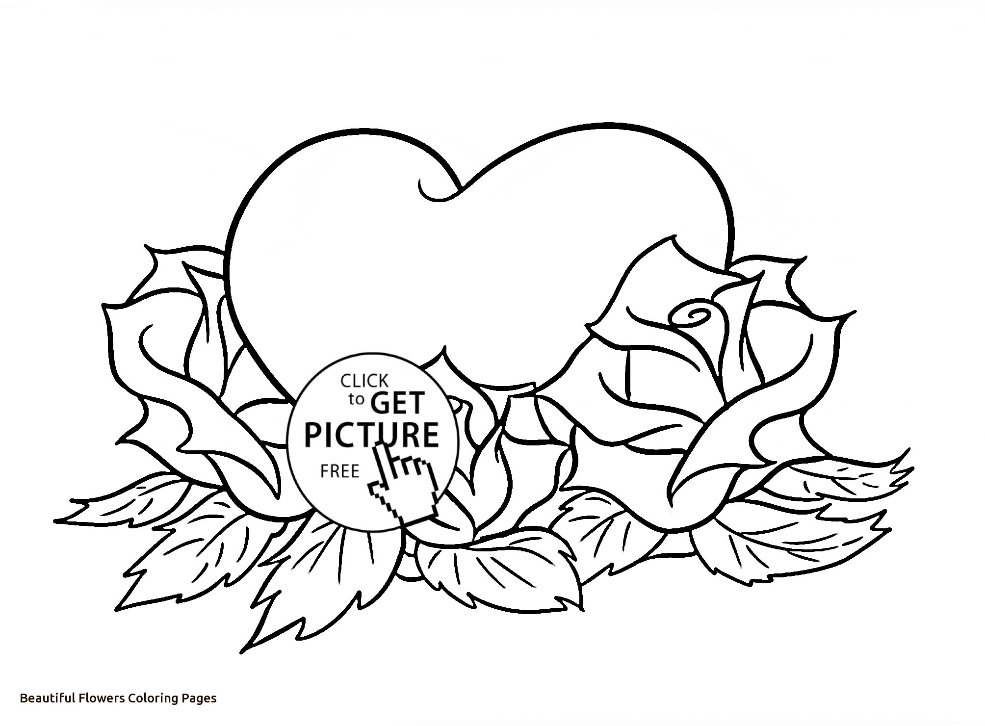 2008x1480 Beautiful Flowers Coloring Pages For Kids Fresh Beautiful Flower