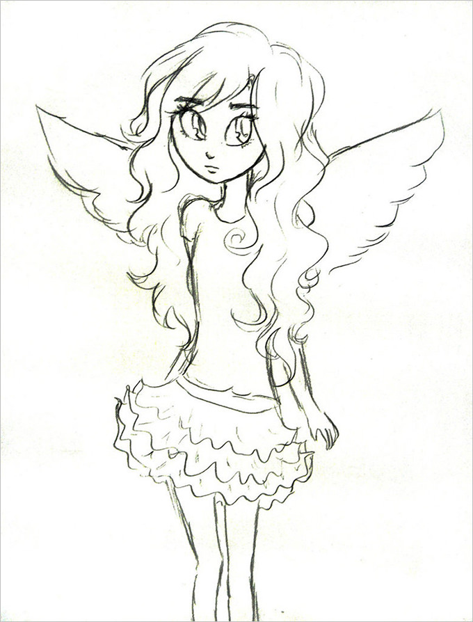 680x894 30+ Angel Drawings