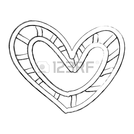 450x450 Beautiful Heart Drawing Icon Vector Illustration Design Royalty