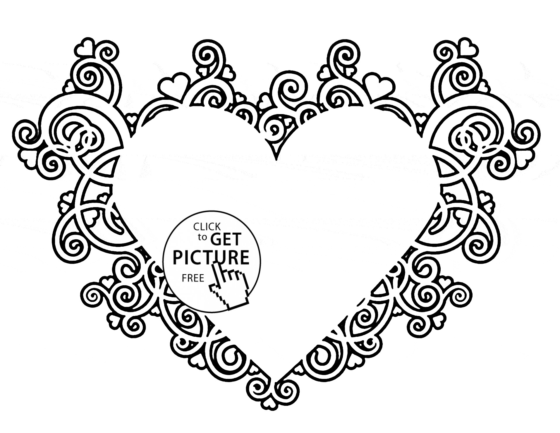 1914x1480 Coloring Pages Of Love Hearts Fresh Beautiful Heart Coloring Page