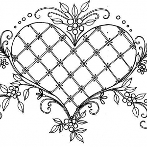 300x300 Heart Coloring Pages