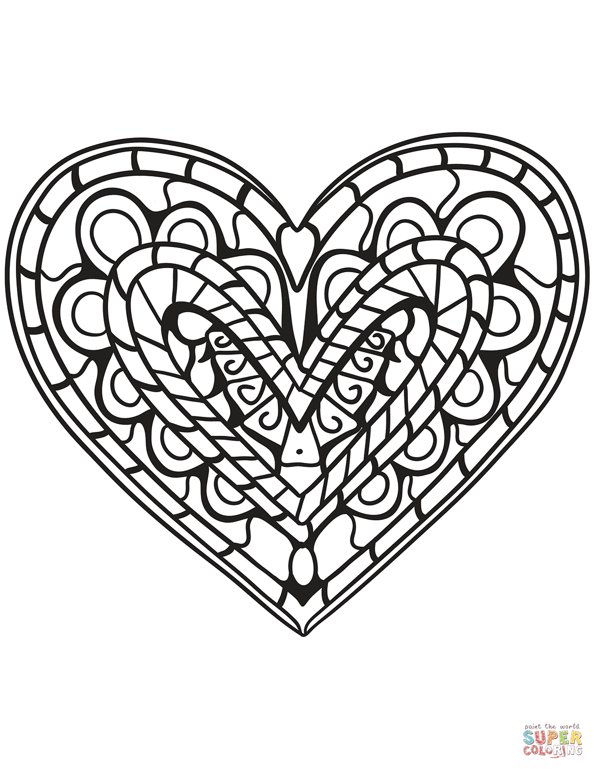1159x1500 Shining Design Heart Coloring Pages Printable Beautiful