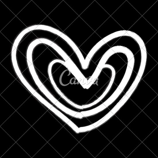 550x550 Beautiful Heart Drawing Icon