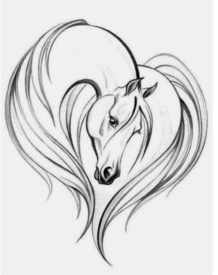 699x884 So Beautiful!! Misty's Tribal Art Drawings Horse