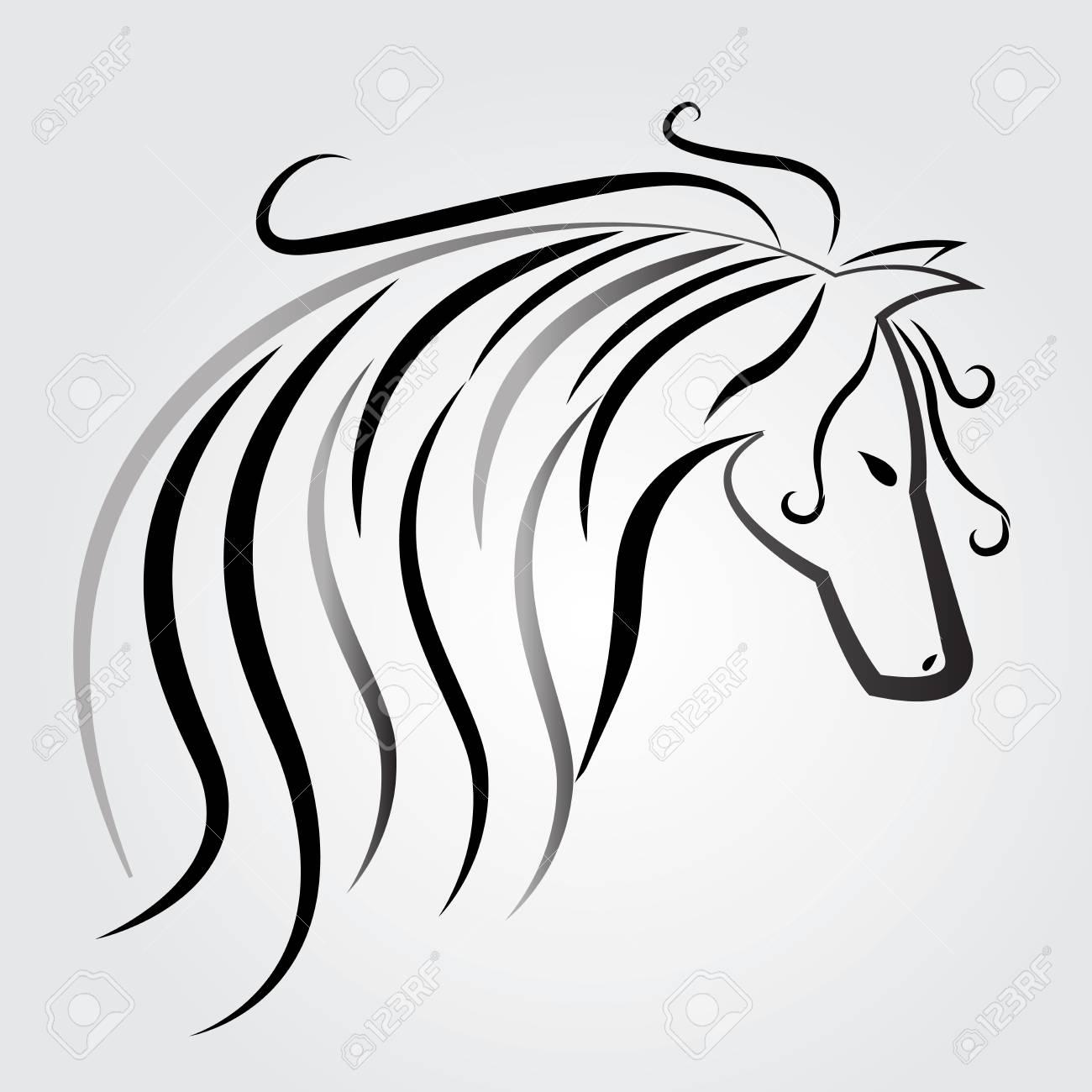 1300x1300 Beautiful Horse Logo Vector Identity Card Royalty Free Cliparts