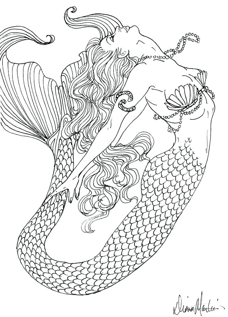 736x1022 Coloring Book Mermaid And Education Game For Children Coloring