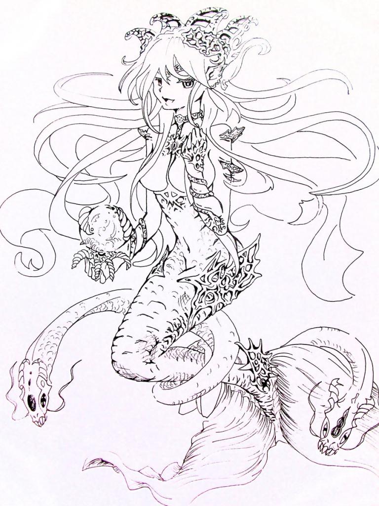 768x1024 Anime Mermaid Drawing Best Anime Mermaid Ideas