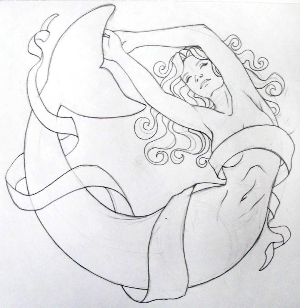 997x1024 Mermaid Drawings In Pencil Beautiful Pencil Painting Of Mermaid