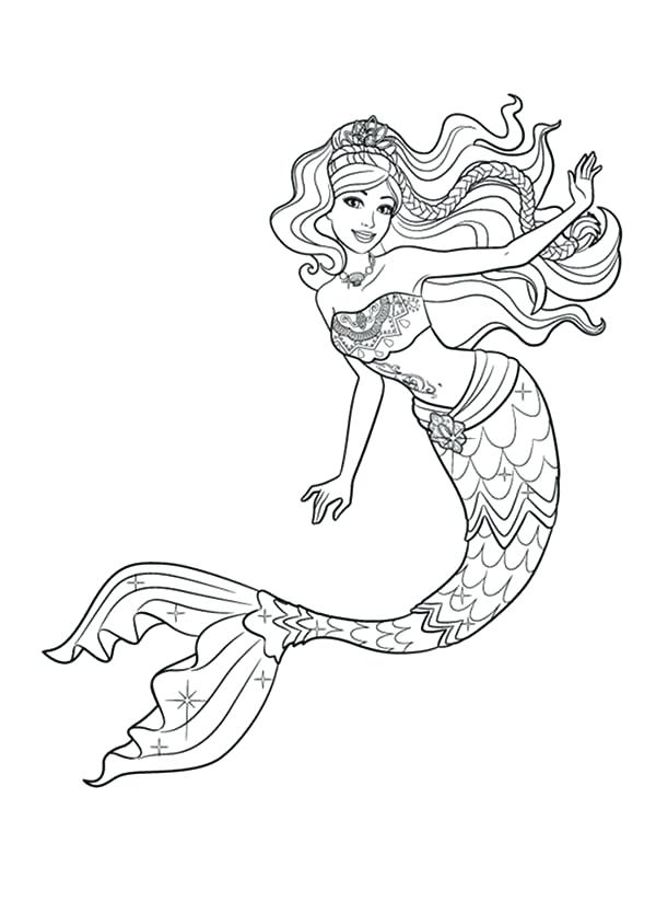 Beautiful Mermaid Drawing At GetDrawings